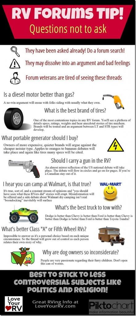 RV Forum Tips