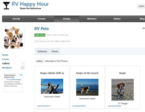 RV Pets gallery on rvhh