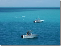 Boats fishing near Seven Mile Bridge