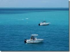 Boats fishing near Seven Mile Bridge