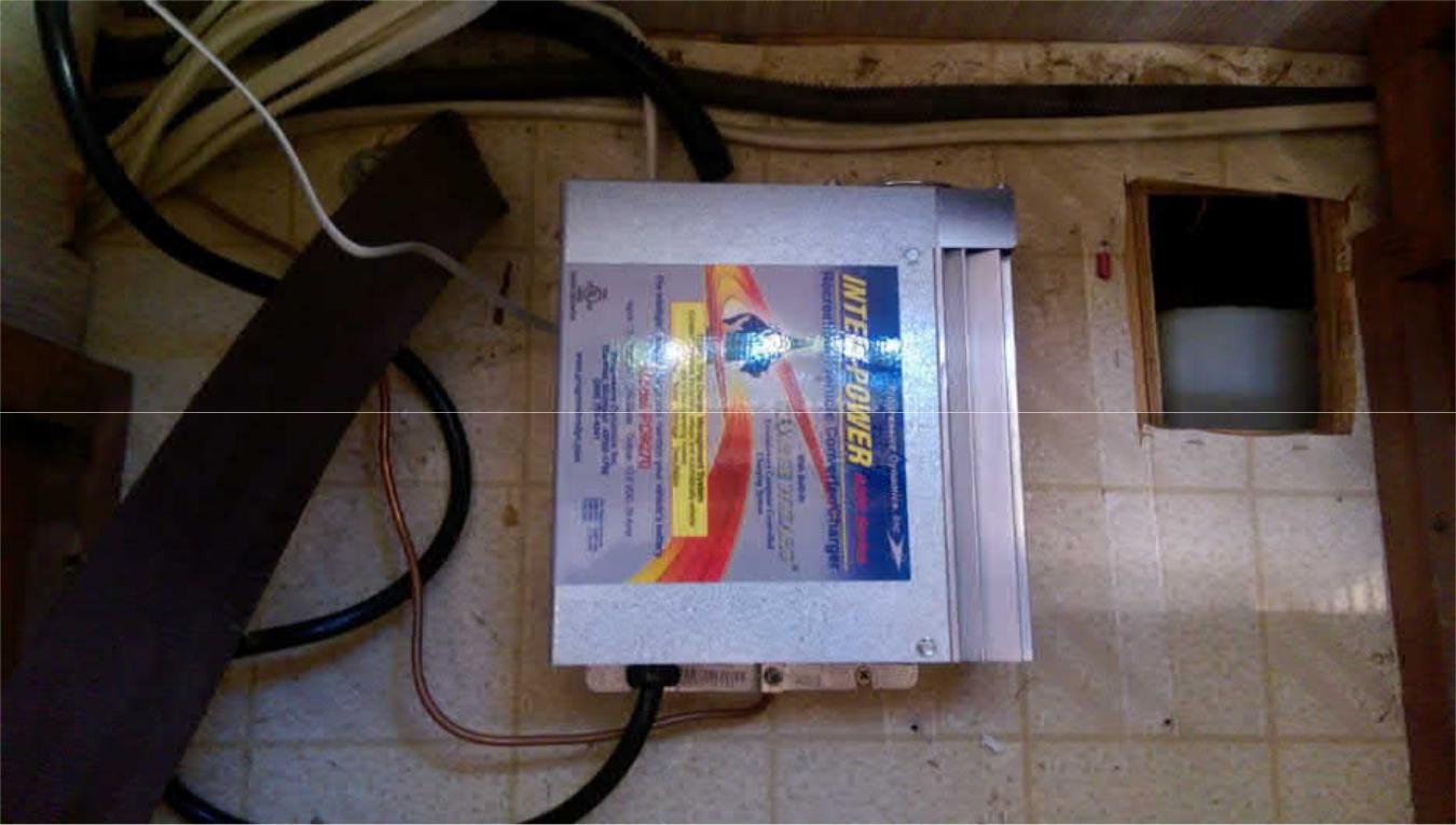 Project Solar And Battery Bank Addition For An Rv Happy Hour Panelwiringdiagram Electrical Panel Wiring Diagram In To The Mods I Also Replace Original Power Converter With A Progressive Dynamics Pd9270c Old Weighed