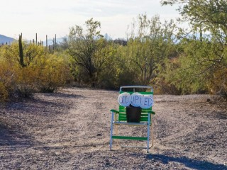 Saving a boondocking site