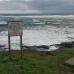 Rough Seas Sign