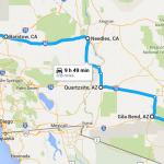 Tucson  AZ to Bakersfield  CA   Google Maps