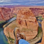 Hoseshoe Bend dangling shoes